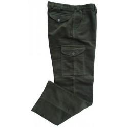 Diftínové  nohavice s bočnými vačkami.