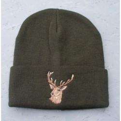 Pletená čiapka - jeleň T