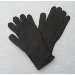 Pletené zateplené rukavice-čierne