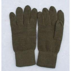 Pletené 5 prstové rukavice-zel.