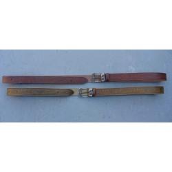Kožený opasok hnedý alebo khaki